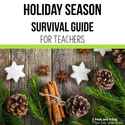 Surviving the holiday season is an important goal for teachers. Find resources for engaging lessons and activities to keep your students having fun from 2 Peas and a Dog. #christmas #holidays #lessonplans #holidayresources