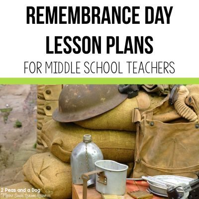 Remembrance Day is an important time to reflect and learn. Use these Remembrance Day lesson plans to help your students learn more about this important day and the sacrifices of service members from 2 Peas and a Dog. #remembranceday #remembrance #worldwar