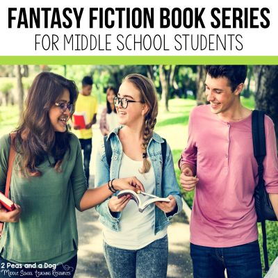 9 engaging fantasy fiction book series recommendations for middle school students from 2 Peas and a Dog. #reading #middleschool #fantasyfiction #independentreading