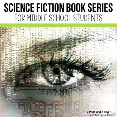 10 science fiction book series recommendations for middle school students from 2 Peas and a Dog. #sciencefiction #middleschool #reading #independentreading