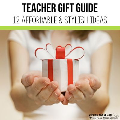 Check out this teacher gift guide to help you find affordable and stylish teacher gifts from 2 Peas and a Dog. #christmas #gifts #teachergifts #teachergift #teachers
