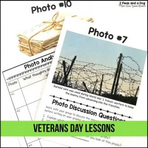 Veterans Day is an important time to reflect and learn. Use these Veterans Day lesson plans to help your students learn more about this important day and the sacrifices of service members from 2 Peas and a Dog. #veteransday #veterans #worldwar