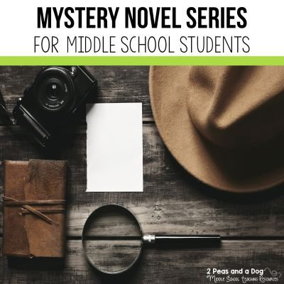 Help your middle school students find a mystery novel series they will love from 2 Peas and a Dog. #mysterynovel #middleschool #reading