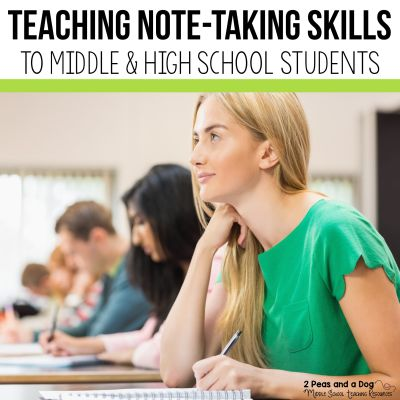 Teaching note-taking skills is a very important skill to actively teach to our students. Learn how to teach this important skill. #notetaking #lessonplans #teachers