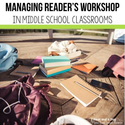 Managing reader's workshop in the middle school classroom does not have to be a challenge. Read these 10 tips for using reader's workshop in middle school from 2 Peas and a Dog. #readersworkshop #workshop #middleschool #lessonplans