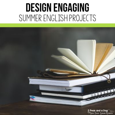 Learn how to create an engaging and rigorous summer english assignment for middle and high school students from 2 Peas and a Dog. #summerreading #summerprojects #lessonplans