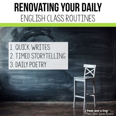 Routine is something most teachers value in their classrooms.   Check out three routines that can be added to your English Language Arts classroom from 2 Peas and a Dog. #classroommanagement #classroomroutines #englishlanguagearts