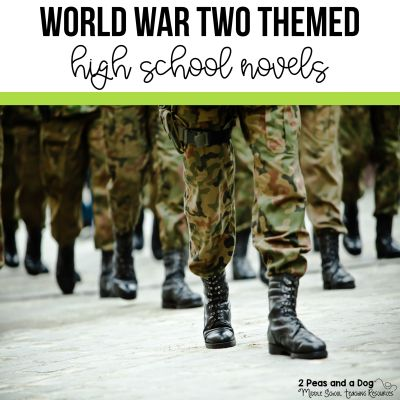 World War Two Themed Novels for High School Students and Classrooms. #highschoolbooks #bookreviews #highschool