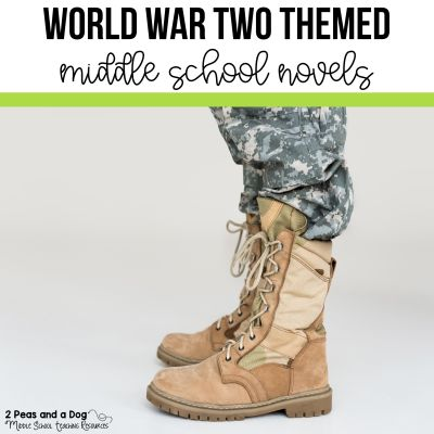 World War Two Themed Novels for Middle School Students. #middleschoolbooks #englishlanguagearts #middleschool