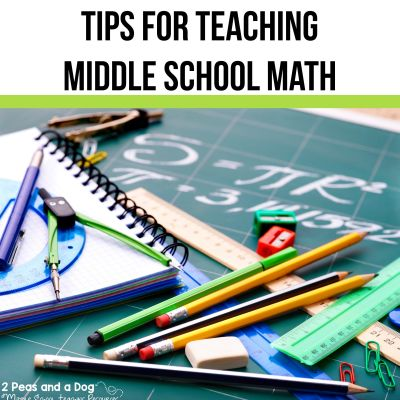 Teaching middle school Math is not easy. In this article, you will find free math resources and enrichment freebies, tips for using the GRASS strategy, and links to popular math resources available on Teachers Pay Teachers from 2 Peas and a Dog. #math #mathlessons #teacherspayteachers