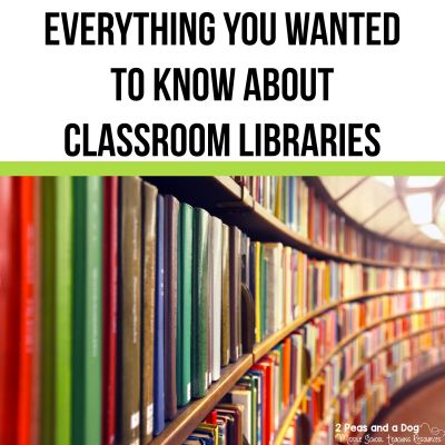 Classroom libraries can either bring life or clutter to a classroom. They are an important part of any thriving classroom. Check out these classroom library resources ito help you build your dream classroom library. Topics include classroom library setup, maintenance and finding great books from 2 Peas and a Dog. #classroomlibrary #classroombooks #readinglessons