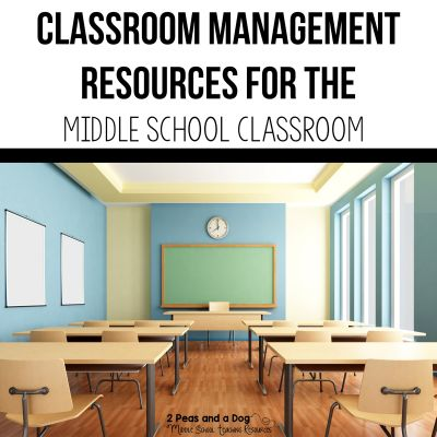 Don't let middle school classroom management be a challenge find ideas and support in this article full of practical classroom management advice from 2 Peas and a Dog. #classroommanagement #middleschool #teachertips #teachers