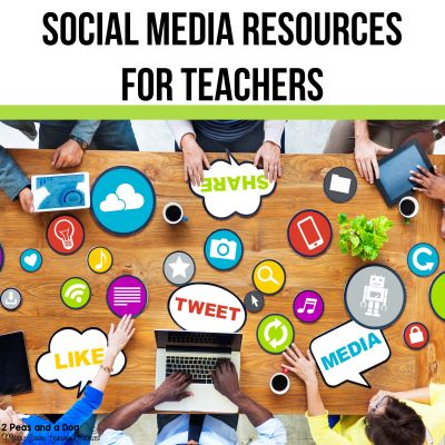 Learn how social media can benefit your teaching practice and expand your personal learning community from 2 Peas and a Dog. #socialmedia #teacherinstagram #teachertips #edtech