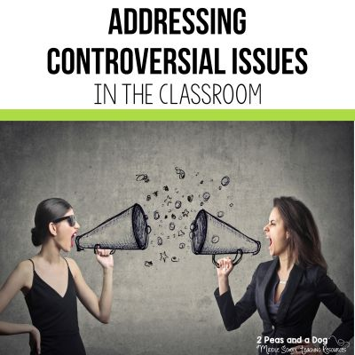 Controversial issues will arise during your class discussions. Be prepared for these topics by using these four rules. #teaching #lessonplans #currentevents