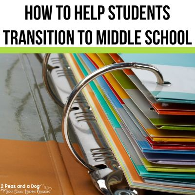 Preparing students for middle school does not have to be challenging. Check out these 10 tips to make the transition from elementary to middle school less stressful from 2 Peas and a Dog.