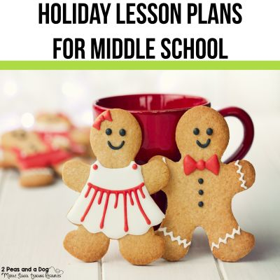 Don't assume middle school students are too old for the holidays. They love celebrating different seasons! Check out these holiday lesson plans for middle school ELA. These lesson plans are engaging and focused on real academic skills that allow you to have fun and get grades at the same time from 2 Peas and a Dog. #holdiaylesons #christmaslessons #middleschoolela