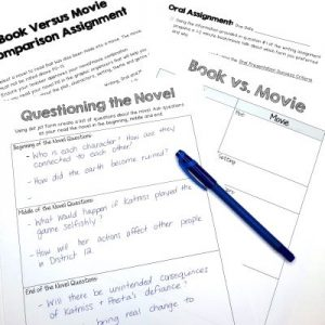 Reading resources for busy middle school and high school teachers. #novelstudy #bookreports #bookreport #middleschoolela #highschoolela