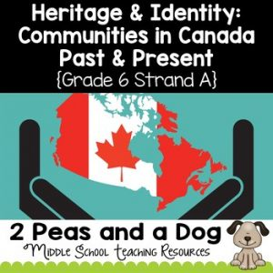 Grade 6 Social Studies Ontario Communities in Canada, Past and Present