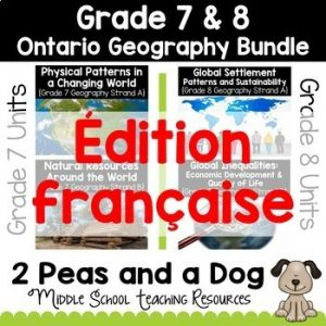Grade 7 8 Ontario Curriculum Geography Bundle French Edition