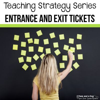 Don't mark 100 quizzes! Use entrance and exit tickets in your classroom to check your students' understanding. #assessment #lessonplans #middleschoolela #grading