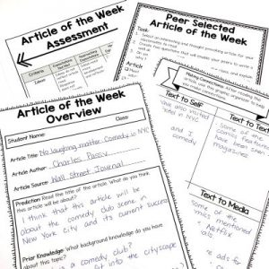 Article of the Week Lesson Plans