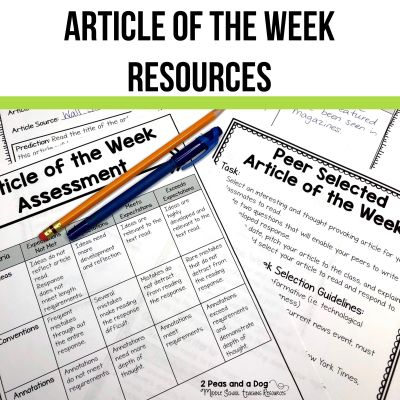 Article of the Week Resources for Middle School.