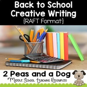 Back to School Creative Writing Assignment
