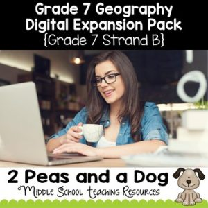 Grade 7 Geography Strand B Digital Expansion Pack
