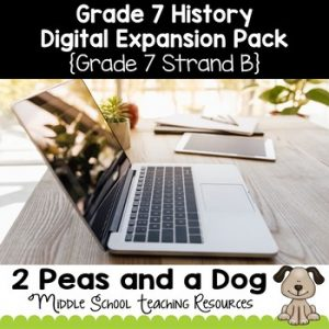 Grade 7 History Strand B Digital Expansion Pack