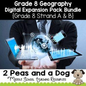 Grade 8 Geography Digital Expansion Pack Bundle