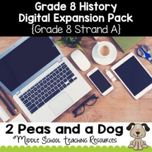 Grade 8 History Strand A Digital Expansion Pack