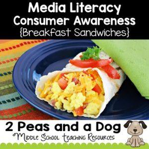 Media Literacy Consumer Awareness Lesson - Breakfast Sandwiches