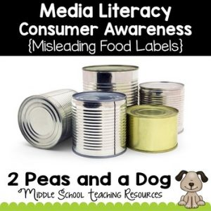 Media Literacy Consumer Awareness Lesson - Misleading Food Labels