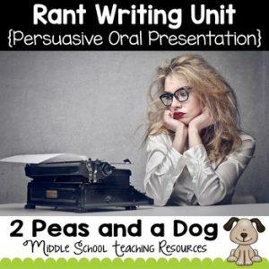 Rant Writing Unit