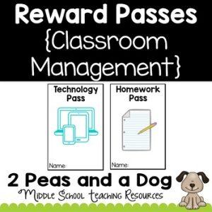 Classroom Reward Passes