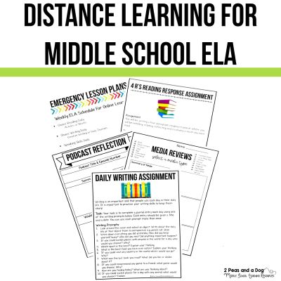 Distance learning is the new normal for many teachers. Use these free ready to go distance learning lessons for your Middle School ELA classes. Lessons are available in PDF and digital formats.