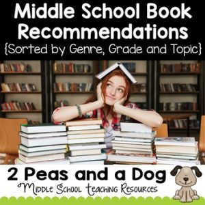 Middle School Book Recommendations by Genre, Grade Level and Topic