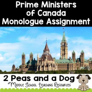 Prime Ministers of Canada Monologue Assignment