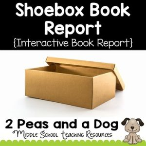 Shoebox Book Report and Task Cards
