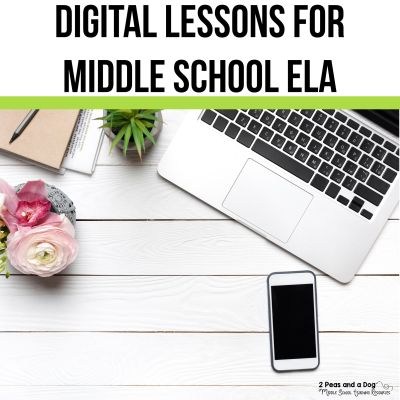 Creating meaningful digital ELA lessons can be a challenge. One of my favourite ways to take my pen and paper lessons and move them into digital ELA lessons is to use Google Slides. Learn more about Google Slides and other ready-to-go digital ela lessons from 2 Peas and a Dog.
