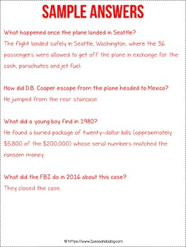 The D.B. Cooper Mystery Non-Fiction Article
